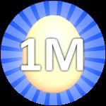 Roblox Bubble Gum Simulator - Badge Hatch 1,000,000 Eggs