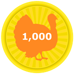Roblox Egg Simulator - Badge Collected 1,000 Turkey