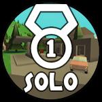 Roblox Island Royale - Badge Solo Victory!