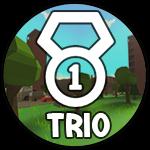 Roblox Island Royale - Badge Trio Victory!