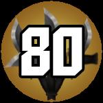 Roblox Murder Mystery 2 - Badge Level 80