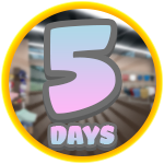 Roblox Robloxian Highschool - Badge Fifth Day