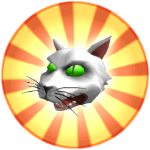 Roblox Robloxian Highschool - Badge Possessed Cat Head