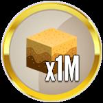 Roblox Treasure Hunt Simulator - Badge 1M Sand Dug