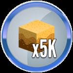 Roblox Treasure Hunt Simulator - Badge 5K Sand Dug