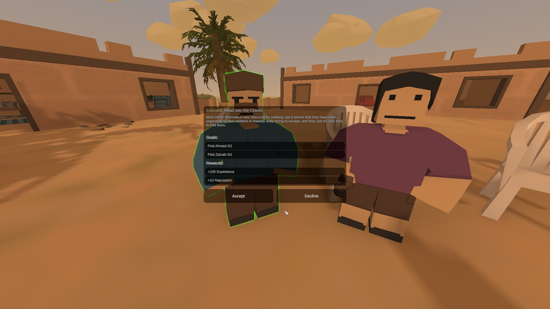 Unturned - Kuwait Major Questlines Guide - Khalid and Salma: Head into the Clouds