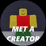 Roblox Bank Tycoon 2 - Badge Met a creator!