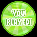 Roblox Blox Paradise - Badge You Played!