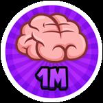 Roblox Brain Simulator - Badge Collect 1M Brains