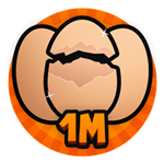 Roblox Brain Simulator - Badge Hatch 1M Eggs