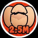 Roblox Brain Simulator - Badge Hatch 2.5M Eggs