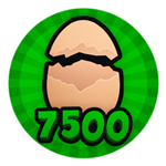 Roblox Brain Simulator - Badge Hatch 7.5K Eggs