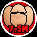 Roblox Brain Simulator - Badge Hatch 7.5M Eggs
