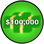 Roblox Car Dealership Tycoon - Badge You have 100K money!