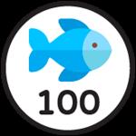 Roblox Fishing Simulator - Badge 100 Catches