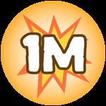 Roblox Monster Hunting Simulator - Badge Deal 1,000,000 Damage