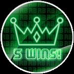 Roblox RB Battles - Badge 5 Wins!
