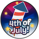 Roblox Robot Simulator - Badge [Robot Simulator] Attended 4th of July Event