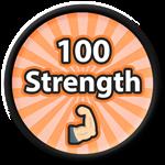 Roblox Saber Simulator - Badge 100 Strength