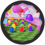 Roblox Super Golf - Badge Candyland Win!