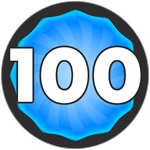 Roblox Super Golf - Badge Level 100!