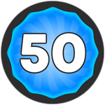Roblox Super Golf - Badge Level 50!
