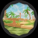 Roblox Super Golf - Badge Oasis Win!
