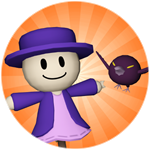 Roblox Tower Heroes - Shop Item Scarecrow Tower + Purple Hatsy Skin