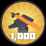 Roblox Treasure Quest - Badge 1,000 Upgrades!