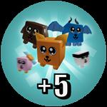 Roblox Unboxing Simulator - Shop Item +5 Pets