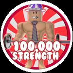 Roblox Weight Lifting Simulator 5 - Badge 100,000 Strength