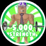 Roblox Weight Lifting Simulator 5 - Badge 5,000 Strength