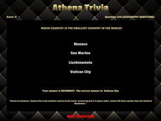 Athena Trivia – 100% Achievements/Questions! 1 - steamlists.com