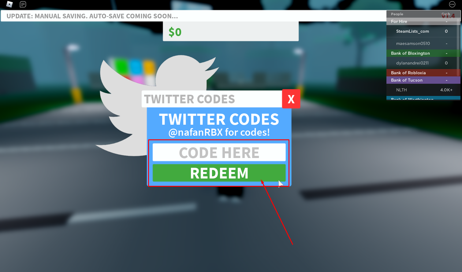 Roblox Bank Tycoon Codes