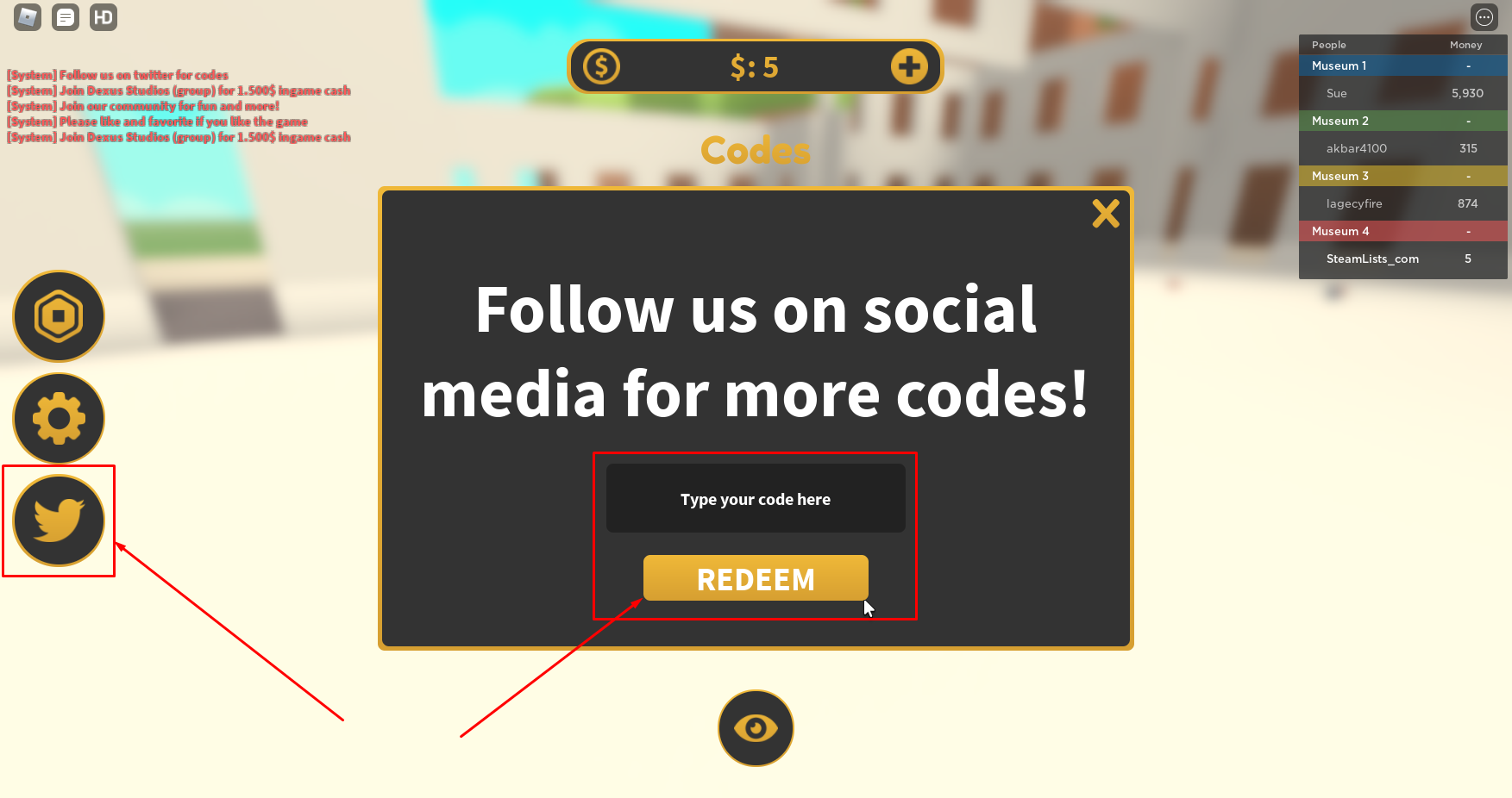 Roblox Museum Tycoon Codes