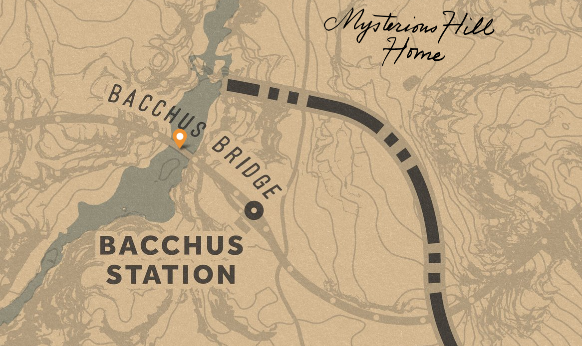 Red Dead Redemption 2 - Collecting Three Tarot Card in New Hanover - 3- Bacchus Bridge