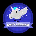 Roblox Elemental Legends - Badge 1,000th Legendary Hatched