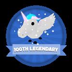 Roblox Elemental Legends - Badge 100th Legendary Hatched