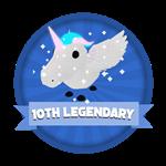 Roblox Elemental Legends - Badge 10th Legendary Hatched