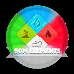 Roblox Elemental Legends - Badge 50M Total Elements