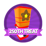 Roblox Elemental Legends - Badge You claimed your 250th treat dispenser