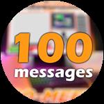 Roblox Ro-Meet - Badge 100 Messages!