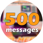 Roblox Ro-Meet - Badge 500 Messages!