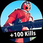 Roblox Totally Accurate Gun Simulator - Badge +100 Kills