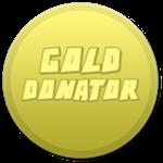Roblox Totally Accurate Gun Simulator - Badge Gold Donator