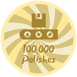 Roblox Treasure Lake Simulator - Badge 100,000 Polishes!
