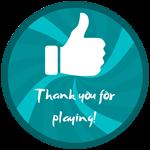 Roblox Treasure Lake Simulator - Badge Thank you for playing!