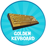 Roblox Typing Simulator - Shop Item Golden Keyboard