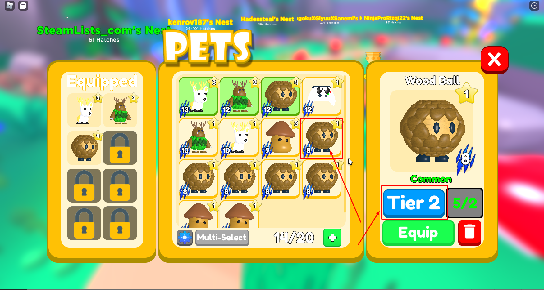 Roblox – Pet Swarm Simulator How to upgrade Pets and make them stronger 2 - steamlists.com