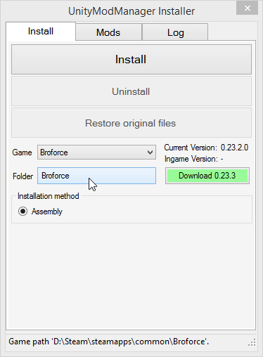 Broforce - How to Install Mods Using Unity Mod Manager - Installing Mods - 37DB0C4
